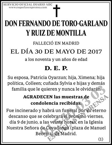 Fernando de Toro-Garland y Ruiz de Montilla
